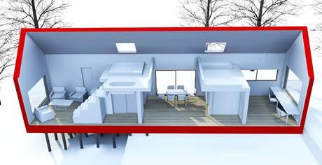 Dispozice domu - vizualizace