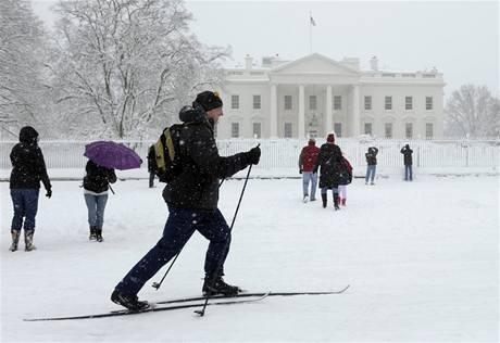 Běžkaři mohli vyrazit do stopy i před Bílým domem (6. února 2010)
