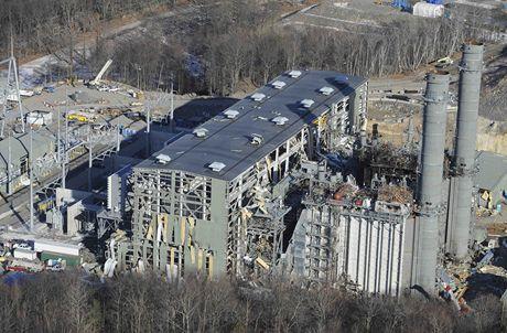 Elektrárna v Middletownu po výbuchu.