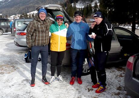 S norskými závodníky den před startem
