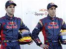 Tým Toro Rosso 2010: Jaime Alguersuari (vlevo) a Sébastien Buemi
