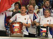 Fanoušci při Fed Cupu