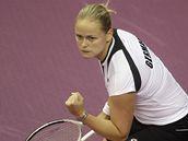 Německá tenistka Anna-Lena Grönefeldová při fedcupovém utkání.