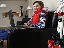Šárka Sudová na svém pokoji v olympijské vesnici.