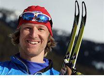 JSEM NA OLYMPIÁDĚ! Milan Šperl před kontrolním závodem běžců na lyžích v kanadském Whistleru.
