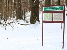 Na běžkách u Brna. Na území přírodního parku jsou instalovány panely s mapou