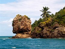 Ostrůvek Providencia poblíž San Andrés. Skála zvaná Morganova hlava