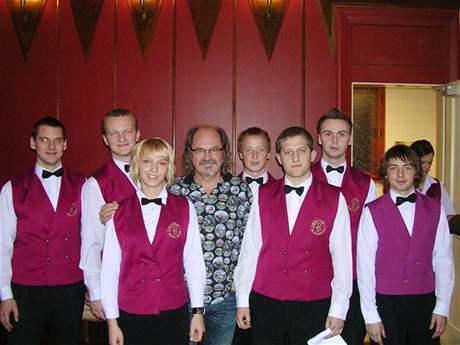 Studenti Hotelové školy Bohemia Chrudim s Ondřejem Hejmou