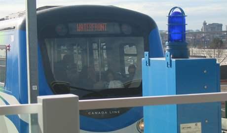 Sky Train - přední část kabiny prvního vozu soupravy