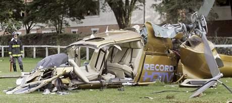 V brazilském Sao Paulu se zřítil vrtulník. (10. února 2010)