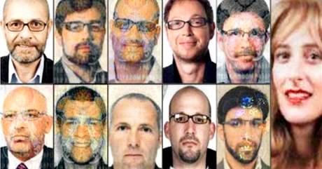 Skupina jedenácti podezřelých, kteří údajně zvraždili vysoce postaveného člena Hamasu Mahmúda Mabhúha.
