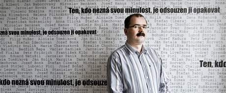 Odstupující ředitel Ústavu pro studium totalitních režimů (ÚSTR) Pavel Žáček.