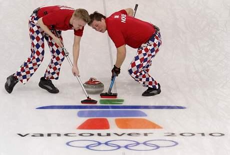 Norský olympijský tým v curlingu oblékl