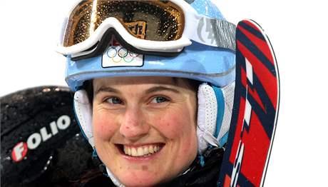 USMĚVAVÁ. Akrobatická lyžařka Nikola Sudová sice na olympiádě neuspěla, i tak se ale smála.