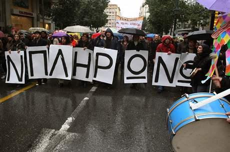 Stávka v Řecku.
