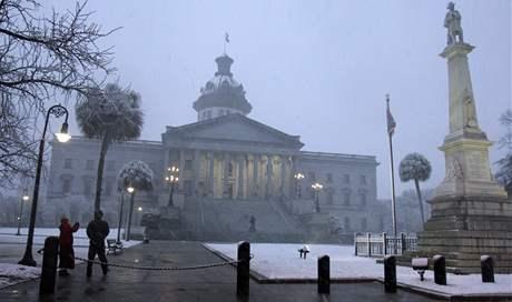 Sníh zasypal už 49 z 50 států USA. Nadílka ve státě Mississippi
