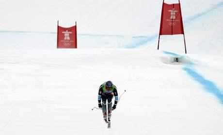 Olympijská sjezdovka ve Whistleru a na ní Aksel Lund Svindal