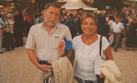 Erika Bezdíčková s manželem Pavlem v Izraeli.