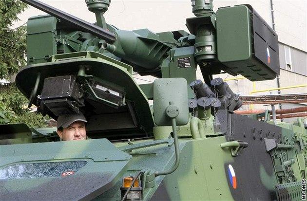 Obrn�ný transportér Pandur �eské armády. Ilustra�ní foto