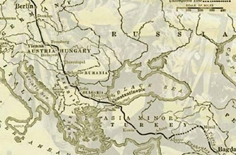 Plán železnice Berlín - Bagdád z doby před první světovou válkou