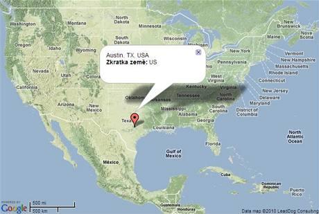 mapa austin