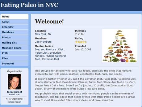 Stránka newyorské paleo komunity má přes 230 členů, nesdružuje ale jen stoupence půstů a syrového masa