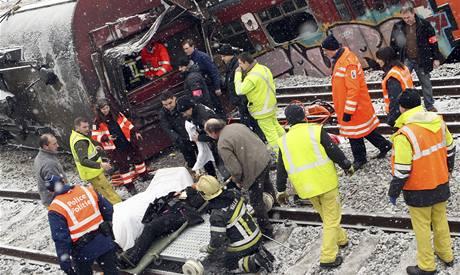 Železniční nehoda v Belgii