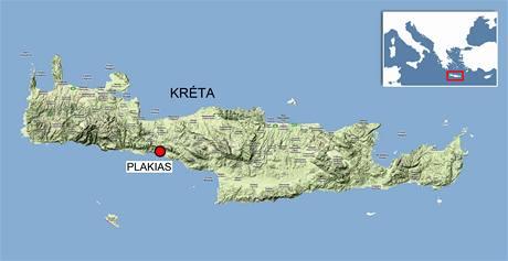 Plakias na Krétě