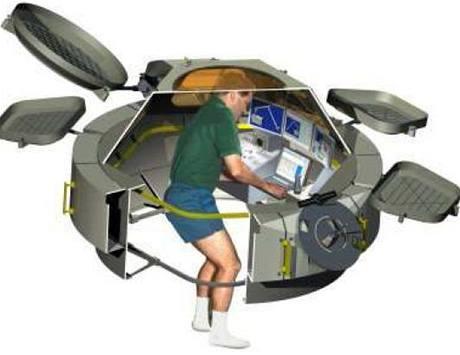 Řez orbitální observatoří Cupola
