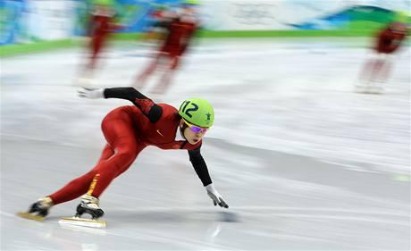 Rychlobruslařka Wang Meng vyhrála kvalifikaci závodu na 500 metrů