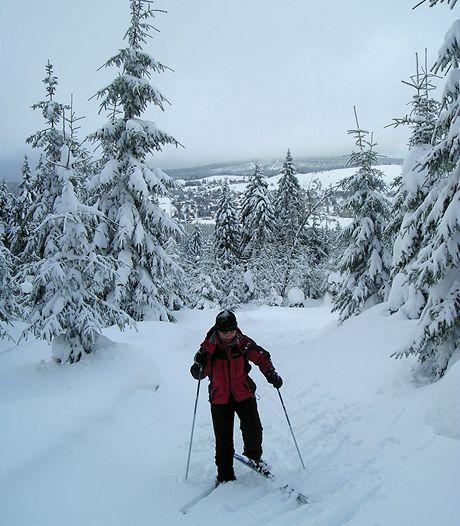 Česká část Krušnohorské lyžařské magistrály v únoru 2009