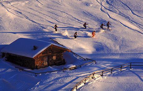 Itálie, Dolomity. Pampeago freeride