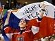 Fanoušci při zápase Česko - Slovensko. (17. února 2010)
