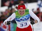 Justyna Kowalczyková z Polska v závodě na 10 km na medaili nedosáhla.