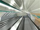 Vizualizace nové stanice Petřiny, která bude součástí šestikilometrového prodlouženého úseku na trase A