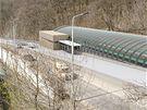 Vizualizace nové stanice Motol, která bude součástí šestikilometrového prodlouženého úseku na trase A