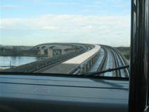 Sky Train - pohled z přední části kabiny