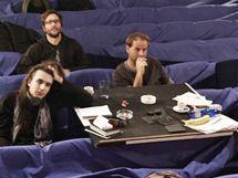Ze zkoušení inscenace Ubu se baví:  Z. Janáček, L. Paleček, J. Havelka, V. Němeček, H. Pilná, K. Plicková