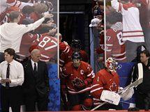 VÍTÁNÍ HRDINŮ. Hokejisté Kanady nastupují k utkání proti Norsku za aplaudování domácích fanoušků.