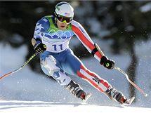 TĚSNĚ POD VRCHOLEM. Američan Bode Miller si v superobřím slalomu dojel pro stříbrnou medaili.