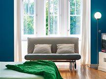 Pokoj syna v prvním patře je vybaven nábytkem z IKEA