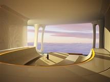 Hotelová vzducholoď Aircruise - vizualizace
