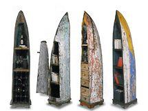 Minibar a policové díly se zásuvkami z lodi, autor Kare, Německo