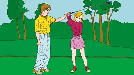 Výuka golfu - ilustrační