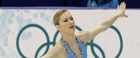 Joannie Rochetteová při olympijském závodě ve kterém získala bronz