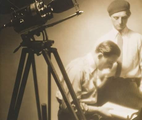Režisér Machatý a kameraman Vích - tvůrci filmu Erotikon, rok 1929/1930