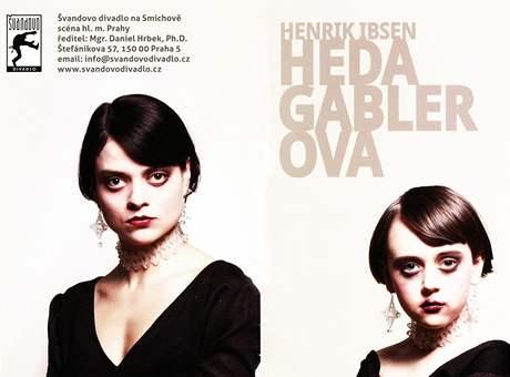Barunka Schmidová - tvář z programu k Hedě Gablerové ve Švandově divadle