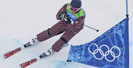 Christopher Del Bosco z Kanady v závodě skicrosu na ZOH ve Vancouveru.