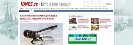 Nová podoba rubriky brno.iDNES.cz od 24. února 2010