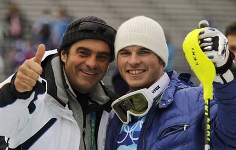 BOŽSKÝ ALBERTO A JEHO NÁSLEDNÍK. Jaké přízvisko si asi vyslouží nečekaný italský vítěz olympijského slalomu? Co třeba Nepřemožitelný Giuliano?